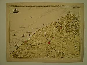 Carte particuliere des environs de Bruges, Ostende, Damme, L Ecluse et autres.: FRICX, EUGENE HENRY...