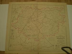 Carte Hydrographique, Routière, Administrative du Brabant.: MAELEN, PH. VANDER.