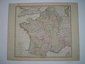 Neue Charte von Frankreich.: GEOGRAPHISCHES INSTITUT WEIMAR.