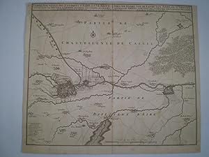 Carte Nouvelle des environs d Aire & St. Venant.: VISSCHER, NICOLAUS.