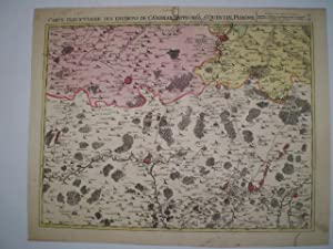 Carte Particuliere des Environs de Cambray, Bappaumes, St. Quentin, Perone etc.: FRICX, EUGENE ...