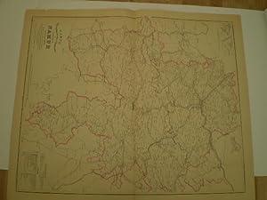 Carte Hydrographique, Routière, Administrative de la Province de Namur.: MAELEN, PH. VANDER.
