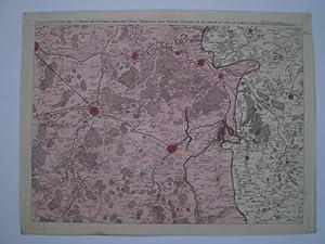 Carte particuliere des Environs de Louvain, Aershot, Diest, Tirlemont, Leau, Iudogne, Malines, et ...