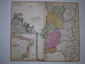Portugalliæ et Algarbiæ cum finitimis Hispaniæ Regnum: Castillia, Legiones, ...