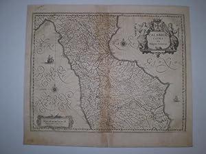 CALABRIA CITRA OLIM MAGNA GRÆCIA.Willem Blaeu, app. 1640. Edge reinforced. Mounted on paper. ...