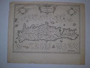 CANDIA OLIM CRETA. Johan Blaeu, app. 1640, Smaller tear in lower margin