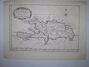 Karte von der Insel Saint Domingue.: BELLIN, M.