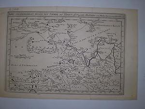 Kort over Kongeriget Hya og Eet stökke af Tangut Af Engelske Skribentere ved N.(!) Bellin ...