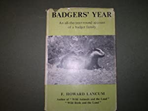 Badgers' year. An all-the-year-round account of a badger family: F.Howard Lancum