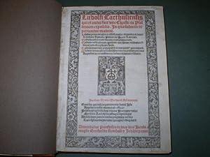 Ludolfi Carthusiensis qui et autor fuit vite Christi: In Psalterium expositio , in qua subiecte ...