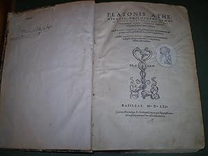 Platonis Atheniensis philosophi summi ac penitus diuini Opera quae ad nos extant omnia per Ianum ...