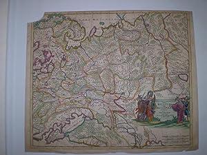 Novissima et Accuratissima Totius Russiæ vulgo Muscoviæ Tabula. Left top corner torn ...