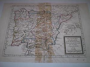 Les rouaumes d'Espagne Suivant les Nouvelles Observations Par J.B.Nolin Geographe du Roi: ...