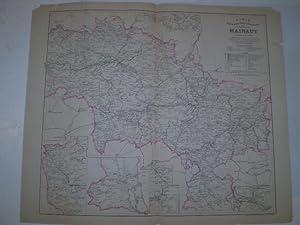 Carte hydrographique routière et administrative de la province de Hainaut comprenant toutes ...