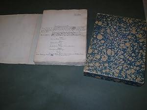 Canta. Et æventyr. Håndskrevet originalmanuskript med rettelser, (nogle inklæbede...
