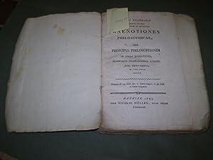 Praenotiones philosophicae, sive Principia philosophandi in usum juventutis, academicis ...