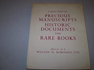 A Selection of Precious Manuscripts, Historic Documents and Rare Books - the majority from the ...