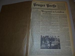 Prager Presse . From 15/9 1938- 31/12