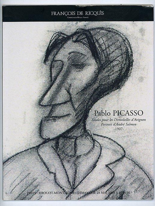 pablo picasso etudes pour les demoiselles davignon portrait dandre salmon 1907 28 mai 2000