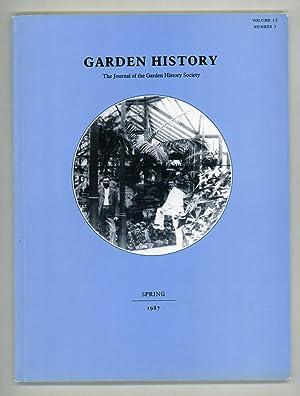 Garden History: The Journal of the Garden: Elliott, Brent (Hon.