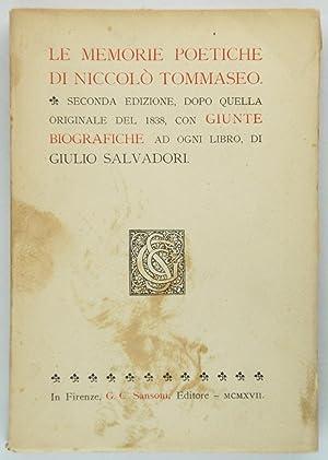 Le memorie poetiche di Niccolò Tommaseo: Salvadori, Giulio (a