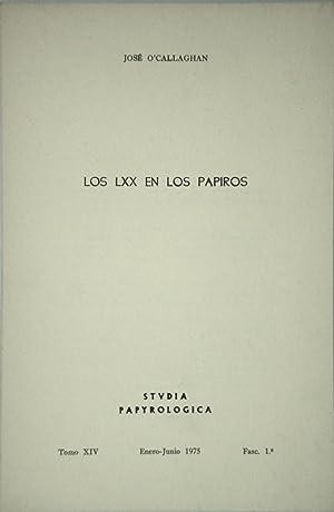 Los LXX en los papiros: O'Callaghan, José