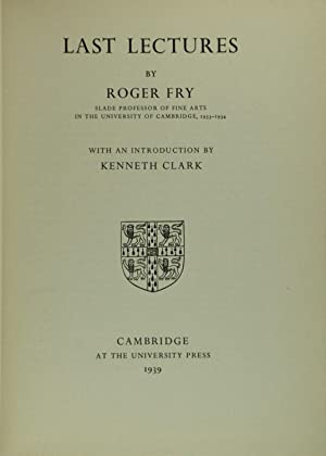 Last Lectures by Roger Fry