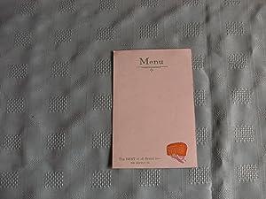 HOVIS Menu Card.
