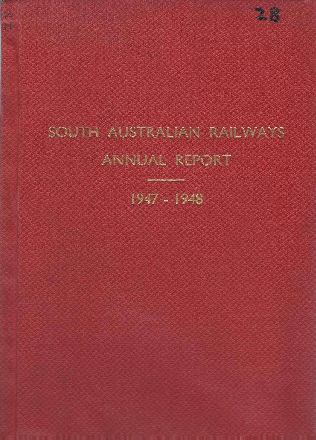Annual Report of the South Australian Railways Commissioner 1947-48 South Australian Railways Commissioner