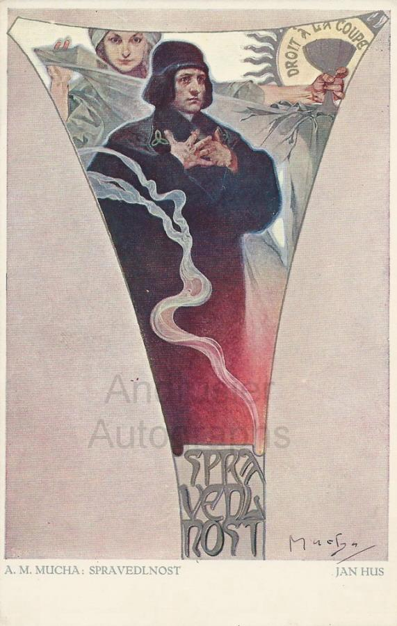 Signed Art Reproduction Postcard