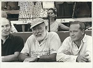Signed Portrait By Hemingway, at a Bullfight: Ernest Hemingway