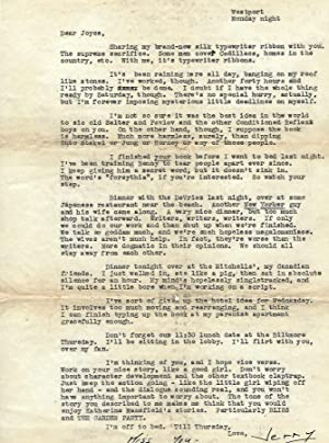 A 1950 letter, hours from Completing 'Catcher: J.D. Salinger