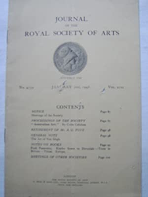 Journal of the Royal Society of Arts,