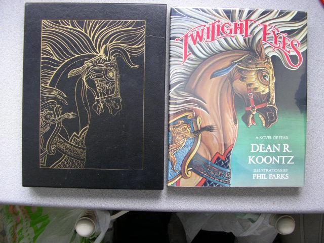 TWILIGHT_EYES_Pristine_Signed_Limited_Edition_of_50_Copies_with_Original_Parks_Art_Koontz_Dean_R_Comme_Neuf_Couverture_rigide