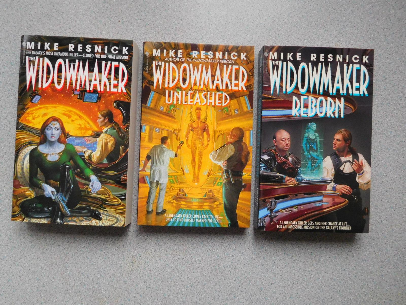 THE WIDOWMAKER & THE WIDOWMAKER REBORN & THE WIDOWMAKER UNLEASHED (Three Pristine First Editions) Resnick, Mike