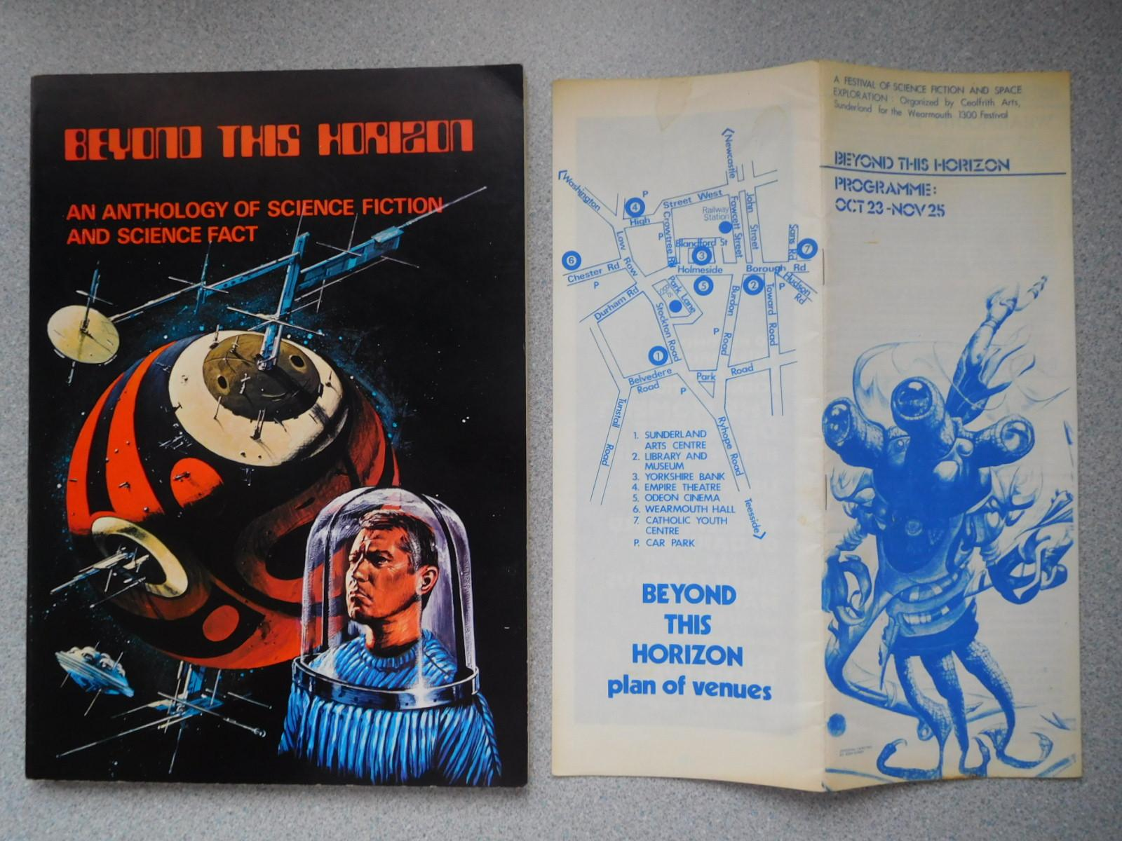 BEYOND_THE_HORIZON_AN_ANTHOLOGY_OF_SCIENCE_FICTION_AND_SCIENCE_FACT_A_Fine_First_Edition_Signed_by_Brian_Aldiss_Christopher_Carrell_Editor_BRian