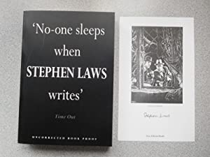 MACABRE Pristine Uncorrected Proof with Signed Bookplate: Laws, Stephen
