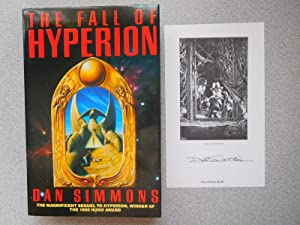 THE FALL OF HYPERION (Very Fine Bookplate-Signed: Simmons, Dan