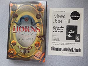 HORNS (Pristine Signed, Dated & Doodled First: Hill, Joe