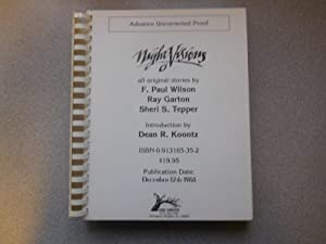 NIGHT VISIONS 6 (Pristine Uncorrected Proof): Dean R Koontz