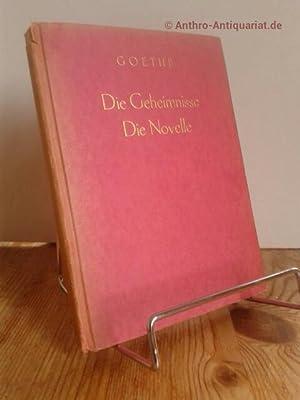 Die Geheimnisse : ein Fragment / Die: Goethe, Johann Wolfgang