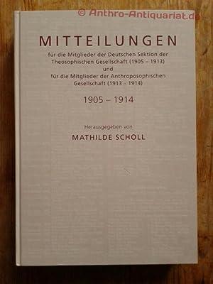 Mitteilungen für die Mitglieder der Deutschen Sektion: Scholl, Mathilde :