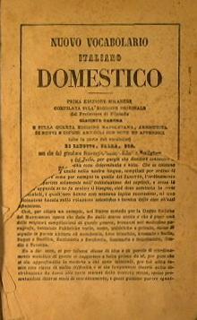 Nuovo vocabolario italiano domestico + Nuovo vocabolario: Sergent Ernesto