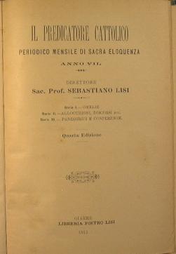 Il predicatore cattolico: Lisi Sebastiano