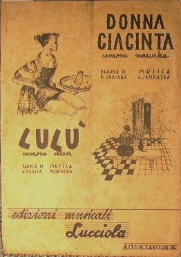 Donna Giacinta ( canzone mazurka ) - Lulù ( canzone valzer ): AA.VV.