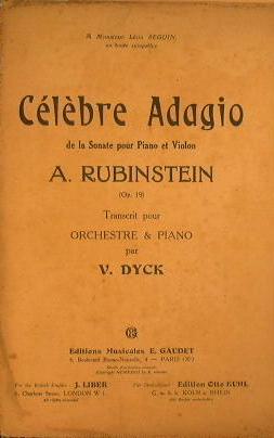 Celebre Adagio: Rubinstein A.