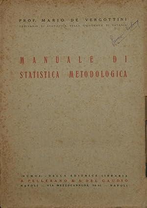 Manuale di statistica metodologica: De Vergottini Mario
