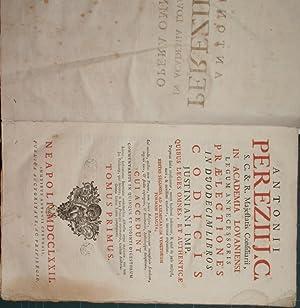 Antonii Pereziij C. in Academia Lovaniensi legum: Perez Antonio