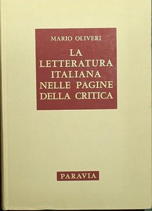 La letteratura italiana nelle pagine della critica: Oliveri Mario