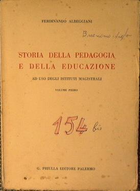 Storia della pedagogia e della educazione: Albeggiani Ferdinando